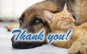 Image to thank for a donation to Gilmer County Animal Shelter